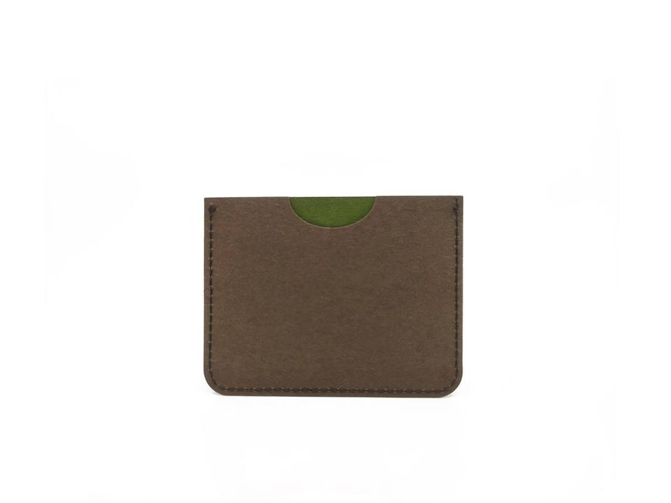 Cardholder | Green & Chocolate