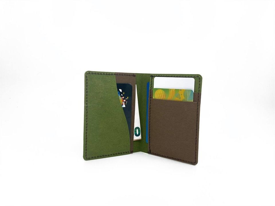 Micro Wallet | Green & Chocolate