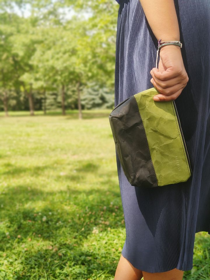 Travel / Beauty Pouch | Green & Black