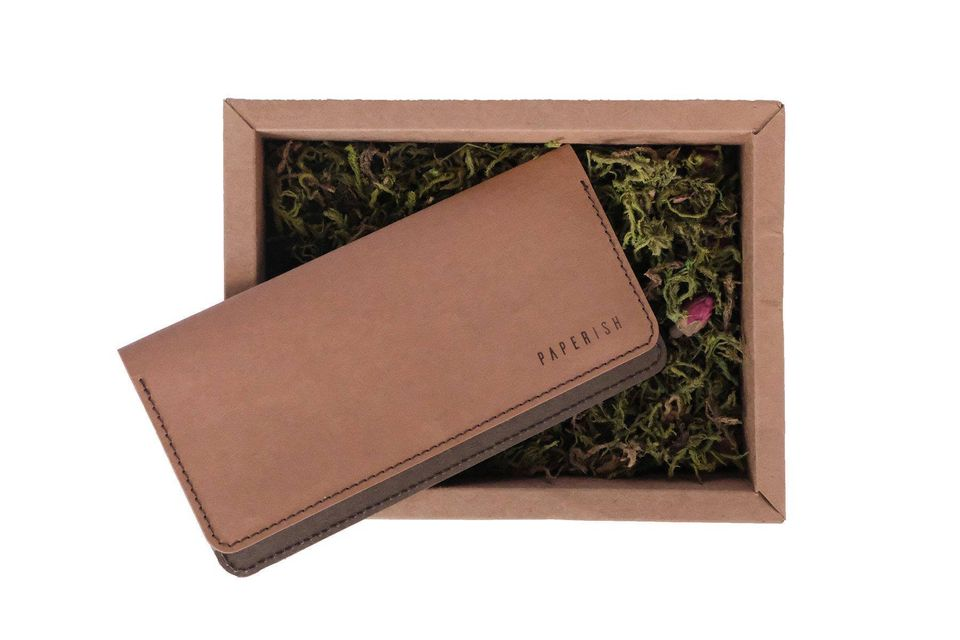 Long Wallet CLUTCH | Brown & Chocolate