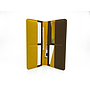 Long Wallet CLUTCH | Yellow & Chocolate